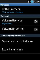 Samsung S5660 Galaxy Gio - Voicemail - handmatig instellen - Stap 5