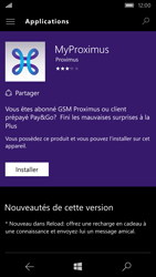 Microsoft Lumia 550 - Applications - MyProximus - Étape 7