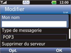 LG C360 Golf - E-mail - Configuration manuelle - Étape 15