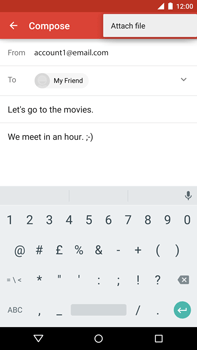 Motorola Nexus 6 - Email - Sending an email message - Step 10