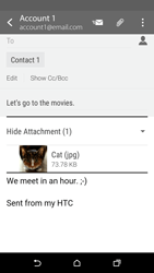 HTC Desire 530 - Email - Sending an email message - Step 18