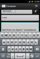 Sony ST21i Xperia Tipo - E-mail - Sending emails - Step 9