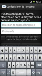 Sony Xperia J - E-mail - Configurar correo electrónico - Paso 5
