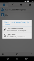 Sony Xperia Z2 - Contact, Appels, SMS/MMS - Ajouter un contact - Étape 7