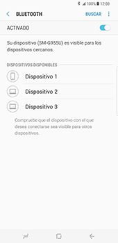 Samsung Galaxy S8 Plus - Bluetooth - Conectar dispositivos a través de Bluetooth - Paso 7