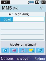 Samsung C3350 Xcover 2 - MMS - envoi d'images - Étape 8
