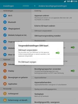 Samsung Galaxy Tab A 9.7 (SM-T555) - Beveiliging en ouderlijk toezicht - Hoe wijzig ik mijn SIM PIN-code - Stap 7