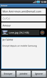 Samsung I9000 Galaxy S - E-mail - Envoi d