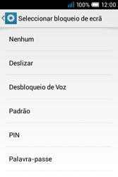 Alcatel POP C1 - Segurança - Como ativar o código de bloqueio do ecrã -  6