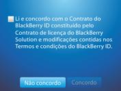 BlackBerry 9620 - Primeiros passos - Como ativar seu aparelho - Etapa 6