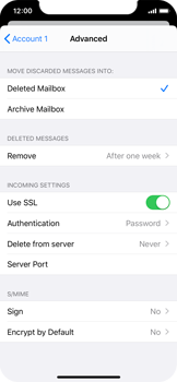 Apple iPhone X - iOS 13 - Email - Manual configuration - Step 22