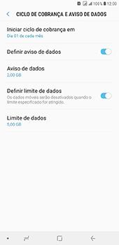 Samsung Galaxy J8 - Rede móvel - Como definir um aviso e limite de uso de dados - Etapa 15