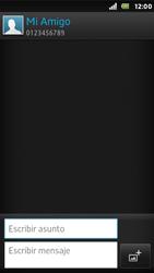 Sony Xperia U - Mensajería - Escribir y enviar un mensaje multimedia - Paso 10