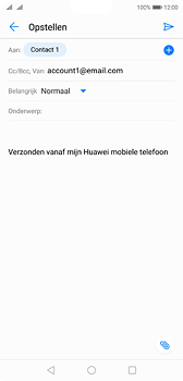 Huawei P20 Dual-SIM (Model EML-L29) - E-mail - Bericht met attachment versturen - Stap 7