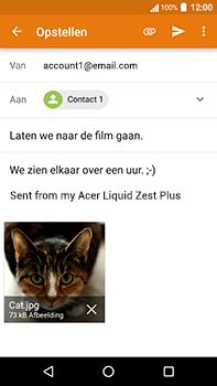 Acer Liquid Zest 4G Plus - E-mail - E-mails verzenden - Stap 15