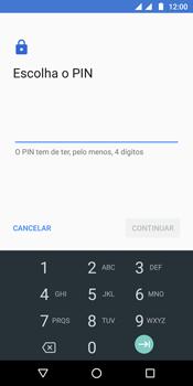 Motorola Moto G6 - Segurança - Como ativar o código de bloqueio do ecrã -  8