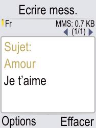 Doro Phone Easy 621 - Contact, Appels, SMS/MMS - Envoyer un MMS - Étape 11
