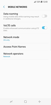 Samsung Galaxy S8 - Network - Change networkmode - Step 9