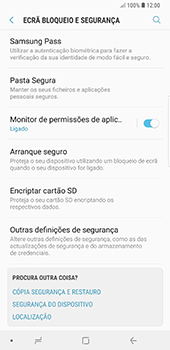 Samsung Galaxy Note 8 - Android Oreo - Segurança - Como ativar o código PIN do cartão de telemóvel -  5
