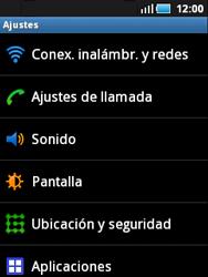 Samsung S5570 Galaxy Mini - Mensajería - Configurar el equipo para mensajes multimedia - Paso 4