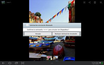 Samsung P7500 Galaxy Tab 10-1 - Bluetooth - Transferir archivos a través de Bluetooth - Paso 9