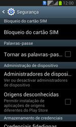 Samsung Galaxy Fresh Duos - Segurança - Como ativar o código PIN do cartão de telemóvel -  5