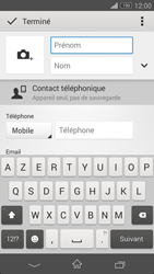 Sony Xperia Z3 Compact - Contact, Appels, SMS/MMS - Ajouter un contact - Étape 7
