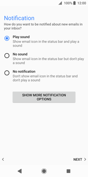 Sony Xperia XZ2 - E-mail - Manual configuration - Step 22