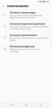 Samsung Galaxy S8 Plus (G955) - Contacten en data - Contacten kopiëren van toestel naar SIM - Stap 7