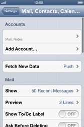 Apple iPhone 4 S - E-mail - Manual configuration IMAP without SMTP verification - Step 14