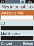 Samsung B2100 Xplorer - E-mail - Configuration manuelle - Étape 13