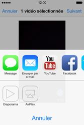 Apple iPhone 4 - Photos, vidéos, musique - Créer une vidéo - Étape 10
