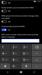 Microsoft Lumia 950 - SMS - Manual configuration - Step 7