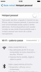 Apple iPhone 5s iOS 9 - Internet no telemóvel - Partilhar os dados móveis -  5