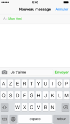 Apple iPhone 5s - Contact, Appels, SMS/MMS - Envoyer un SMS - Étape 8
