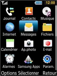 Samsung S5610 Primo - Messagerie vocale - configuration manuelle - Étape 4