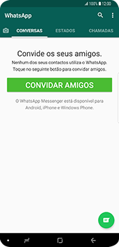 Samsung Galaxy S9 Plus - Aplicações - Como configurar o WhatsApp -  15