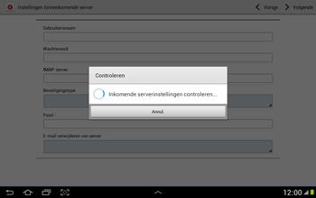 Samsung N8000 Galaxy Note 10-1 - E-mail - Handmatig instellen - Stap 10