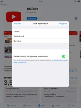 Apple iPad Mini 4 - iOS 11 - Applicaties - Account aanmaken - Stap 9