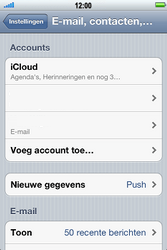 Apple iPhone 4S met iOS 5 (Model A1387) - E-mail - Handmatig instellen - Stap 10