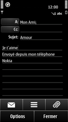 Nokia 500 - E-mail - envoyer un e-mail - Étape 9