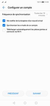 Huawei P20 - E-mail - Configuration manuelle - Étape 16