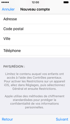 Apple iPhone SE - iOS 10 - Applications - Créer un compte - Étape 23