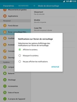 Samsung Galaxy Tab A - Sécuriser votre mobile - Activer le code de verrouillage - Étape 11