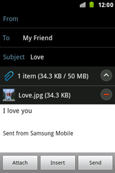 Samsung S7500 Galaxy Ace Plus - Email - Sending an email message - Step 15