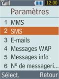 Samsung B2100 Xplorer - SMS - Configuration manuelle - Étape 5