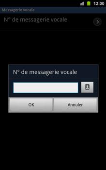 Samsung N7000 Galaxy Note - Messagerie vocale - Configuration manuelle - Étape 7