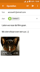Acer Liquid Z6 Dual SIM - E-mail - Hoe te versturen - Stap 15