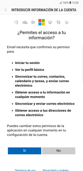 Samsung Galaxy Note 8 - E-mail - Configurar Outlook.com - Paso 8