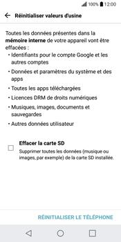 LG Q6 - Device maintenance - Retour aux réglages usine - Étape 8
